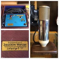 Weztel tube mic w/power supply