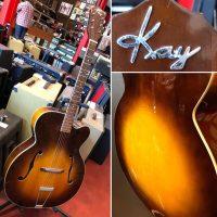 """1952 Kay K-1 17"""" Archtop w/ chip case - $895"""