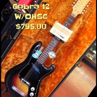 1960's Eko Cobra 12 string w/OHSC and case candy - $795