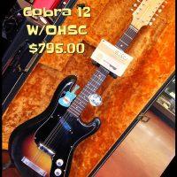 1960's Eko Cobra 12 string w/OHSC and case candy - $795