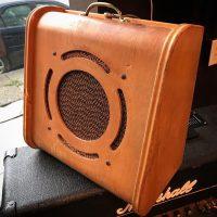 Vintage school speaker cab w/ 1960 Jensen P10T speaker - $100