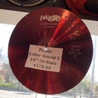 "Paiste Color Sound 5 15"" Hi-Hats - $175"