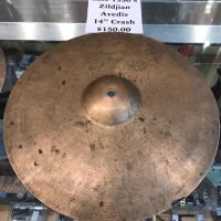 "Circa late 1930's Zildjian Avedis (1st stamp) 14"" crash - $150"