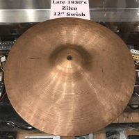 "Late 1930's Zilco (Zildjian) 12"" swish cymbal - $100"