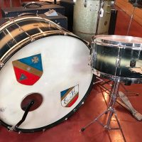 "1938 Leedy 13""x28"" Spartan bass & matching 6.5""x14"" Broadway Standard snare in original duco finish - $725 for the pair. Bass drum comes with original case."