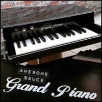 Awesome Sauce toy grand piano w/ pickup added - $275