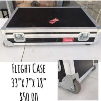 """Used flight case - $50 Dimensions are 33"""" x 7"""" x 18"""""""