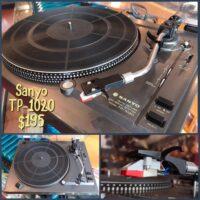 Sanyo TP-1020 turntable w/new stylus - $195