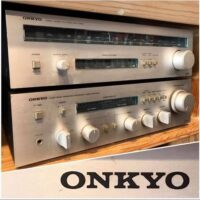 1980 Onkyo A-7070 stereo integrated amp w/T-4040 am/fm tuner - $250 for the pair
