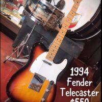 1994 Fender Telecaster MIM w/gig bag $550