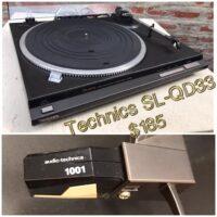 Technics SL-QD33 turntable - $185