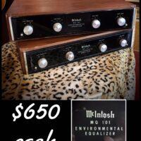1970s McIntosh MQ 101 Environmental Equalizers - $650 each