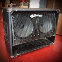 Late 1970s Mitchell GM 212 cab w/Celestion G12 Vintage 30 speakers also has speaker cover - $295