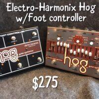 Electro-Harmonix harmonic octave generator and foot controller w/power supply - $275