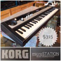 Korg Microstation synth w/power supply - $315