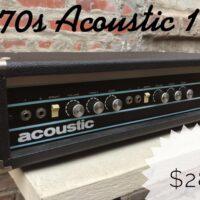 1970s Acoustic 140 bass head - $285