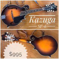 Kazuga SF-6 mandolin w/strap & gig bag - $995 Made in Japan