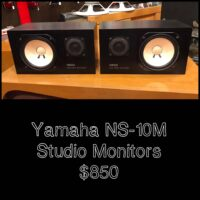 Yamaha NS-10M studio monitors - $850