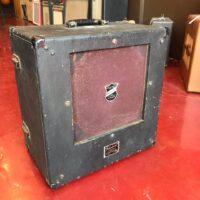 "1940s Bell & Howell Filmosound model 6 1x12"" 25 watt 16 ohm speaker cab - $195"