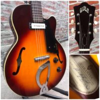 1965 Guild M-65 Freshman w/original chip case - $1,795