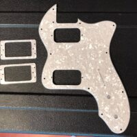 '72 Tele Thinline style pickguard for uncovered humbuckers. Comes with pickup rings for covered pickups. - $25