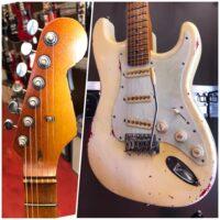 Custom made Strat style guitar w/Artec pickups - $795